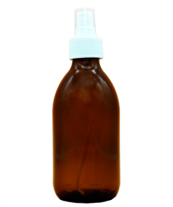 Spray bottle glass, brown PP28