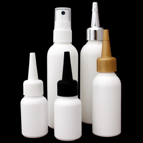 HDPE Flaschen weiß durchgefärbt