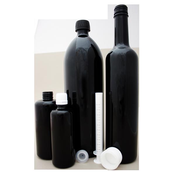Miron Glasflasche Violettglas