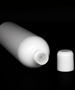 HDPE-Flasche 20-410 mit Spritzeinsatz und Runddeckel 200 ml