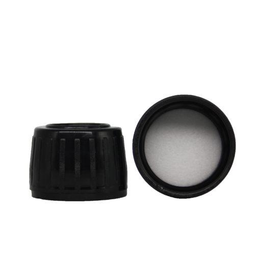 Verschluss Deckel, PP28 schwarz für Dosersystem